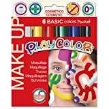 KABEER ART Instant Play color Face Painting Set of 6 Basic Colors