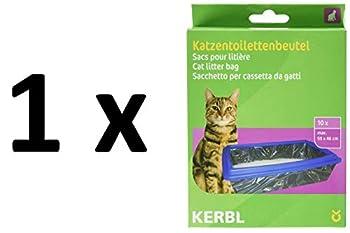 Kerbl 84215  Sac à Litière XL pour Chat 59x46 cm 1 pack de 10