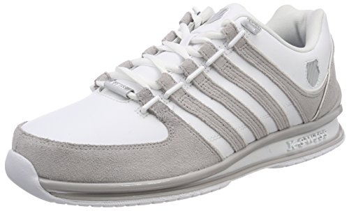 K-Swiss Herren Rinzler SP Sneaker, Weiß (White/Gull Gray), 44 EU -