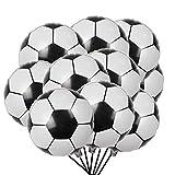 """MAKFORT 20 Stück Fussball Luftballons Folienballon Fußball WM Party Deko, 45cm/18"""""""