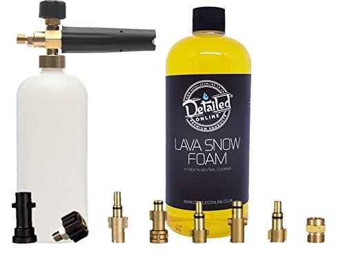 DetailedOnline Snow Foam Lance + Plus 1 L Banana Lava Schneeschaum - passend für alle Hochdruckreiniger