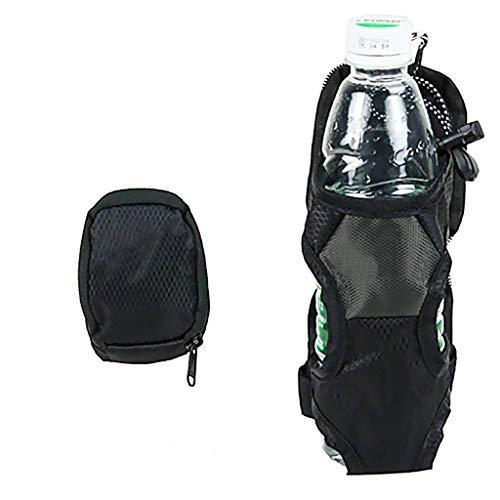 Green PET Flaschenhalter Deckel Flaschenhalter Montiert auf Rucksack Gürtel Eingabe Cage Pocket Getränkehalter Wasserflasche Wasserflasche Gefaltete Regenschirm kann auch gespeichert Werden (Gefaltet Rucksack)