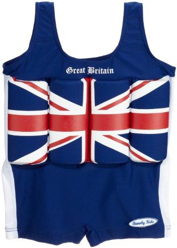 Beverly Kids Jungen Britain Uv-bojenbadeanzug, Blau, 98