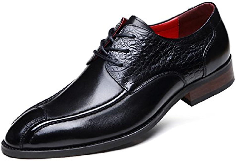 GRRONG Männer Mode Business Schuh High End Hochzeit Schuhe
