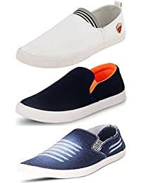 Maddy Perfect Combo Pack of 3 Loafer Shoes For Men In Various Sizes