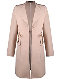 Fit Manteau Long Slim Chic Coupe Vessos Veste Trench Longues Femme Gabardine Manches Vent Blouson vwT5qnZAEq