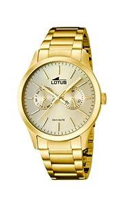 Lotus 15955/2 - Reloj de cuarzo para hombre, con correa de acero inoxidable, color dorado