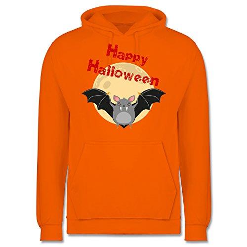 Halloween - Happy Halloween Fledermaus - Männer Premium Kapuzenpullover / Hoodie Orange