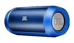 JBL Charge 2 Wireless Bluetooth Stereo-Lautsprecher (Drahtloser, mit Aufladbarer Batterie, Integrierter Freisprecheinrichtung, 3,5 Stereoeingang, Kompatibel mit Apple iOS/Android Geräten) blau