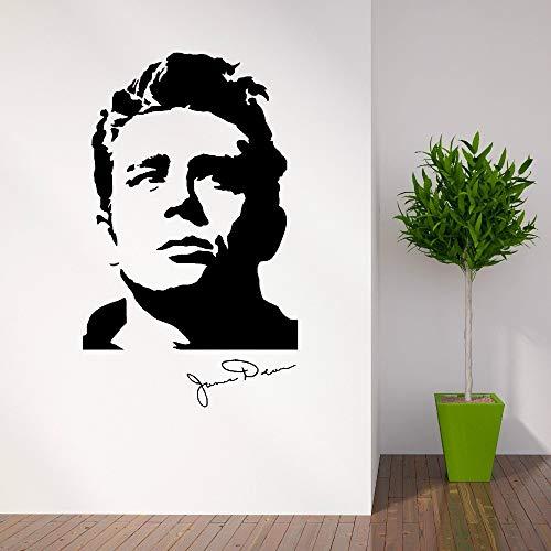 James Dean Schauspieler (tzxdbh Amerikanischer Schauspieler James Dean der 1950er Jahre Vinyl Kunst Wandaufkleber Home Wohnzimmer Dekoration Wandbild Removable Decor Tapete 34 * 57cm)