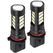 Sharplace 1 par Lámpara de Niebla de DRL Kit de Conversión 6000K para Vehículos