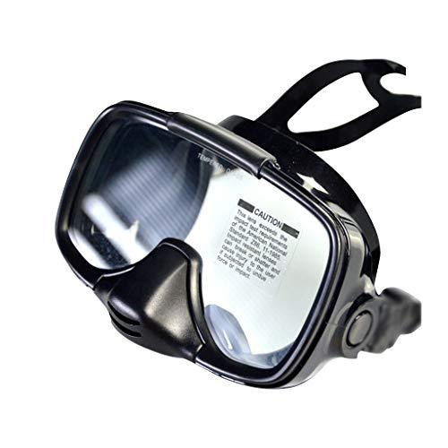 MA87 Schwimmbrille Tauchbrille Schwarze Tauchmaske Scuba Snorkel Goggles Face Glasses Mount Super-Soft Silicon Edge (Schwarz)
