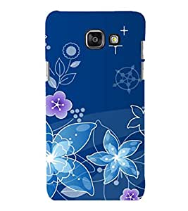 printtech Flower Spiral Design Back Case Cover for Samsung Galaxy A3 2016 Edition
