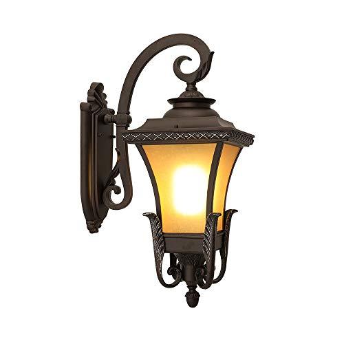 ZCF Balkonlampe Retro-Außenleuchte im amerikanischen Stil Wandleuchte Gang Gang Wandleuchte Garten Veranda Licht wasserdicht (Stecker Für Baby-schaukel)