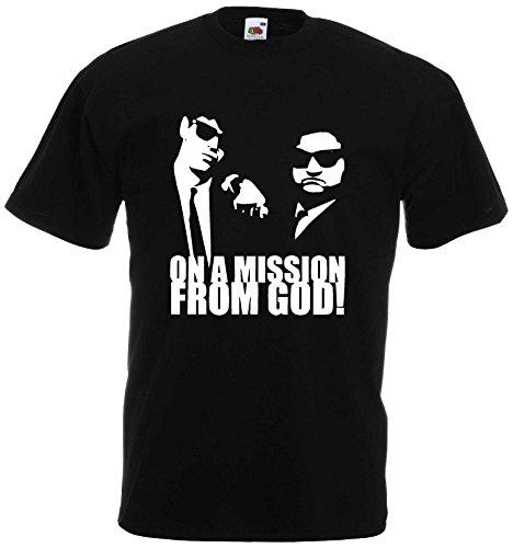 BLUES BROTHERS MISSION FROM GOD T-SHIRT NEU S-XXL KULT