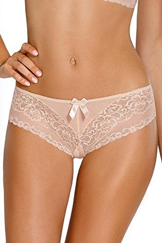 Nipplex Dorota Shorts Damen Unterhosen Unterwäsche Stickerei Top Qualität Setteil EU Beige