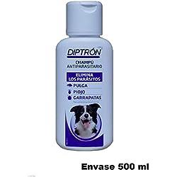 Champu DIPTRON antiparasitario anti pulgas, garrapatas y piojos antipulgas 500 ml