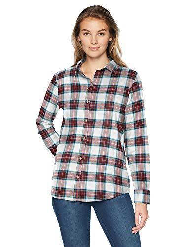 b2f6f5ced Amazon Essentials Long-sleeve Classic-fit Lightweight Plaid Flannel Shirt