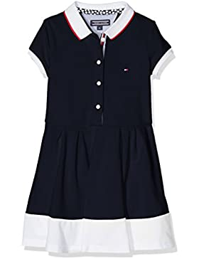 Tommy Hilfiger Mädchen Kleid Ame Colorblock Polo Dress S/S