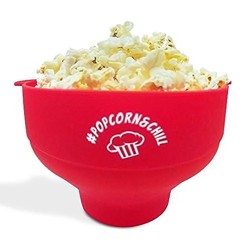 Popcorn Maker Popcorn Popper Popcornmaschine Popcornschüssel mit Deckel Mikrowellen Popcornmaker