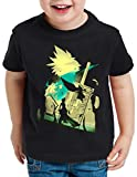 style3 VII Fantasy Battle T-Shirt pour Enfants Avalanche Sephiroth PS iOS Japon,...