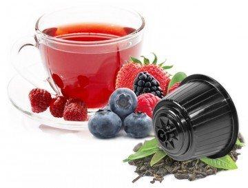 Beeren Tee - 10 Stück Kompatible Teekapseln von Caffè Bonini Italien. Kompatibel für alle Dolce Gusto®* Maschinen u.a. Grundpreis pro 100g: 9,67€ -