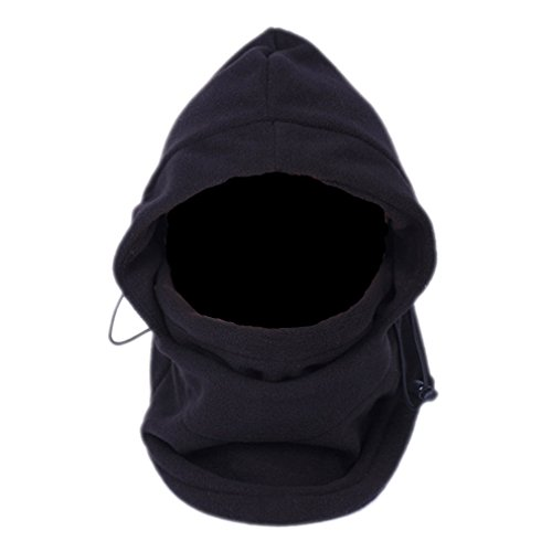 EOZY a 6-in - 1 Neck Warmer Black Balaclava Mask Balaclava Hat Multi-purpose Polyester fabric for cold weather Mountaineering Ski Motorcycle Outdoor Camping Hiking