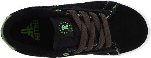 Fallen Bomber 23818043, Scarpe da skateboard unisex bambino Nero (Schwarz (Black/Bright Green))