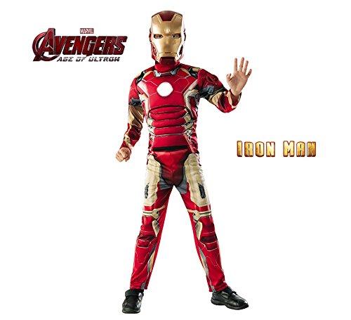 Avengers-Iron Man-Kostüm Deluxe, für Kinder (Rubie 's 620194) L keine Angaben