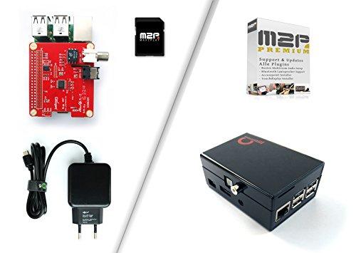 Raspberry Pi 3 digitales Sound Starter Kit, für Multiroom Audio über Digitalanschlüsse (zB. TOSLink), mit Justboom Digi HAT Soundkarte, Raspberry Pi 3, komplettem Zubehör und Max2Play Software Video Toslink Audio Kit