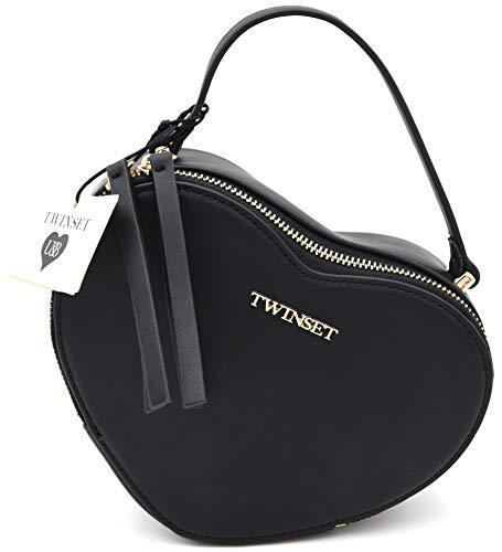 Faux Twin-set (Twin-Set Damentasche Clutch Handtasche KLEIN Freizeit Faux Leder Art. LS8EFF ONE Size Nero Black)
