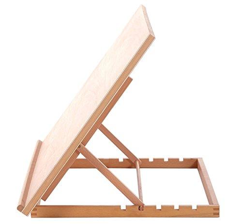 A2 Art & Craft Workstation Wooden Desktop Drawing Board Artist Adjustable Table Easel