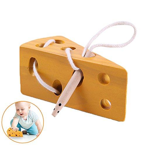 Pingenaneer Lernspielzeug Holzkäsespielzeug Threading Spielzeug Baby Kind Spielzeug Puzzlespiel-pädagogisches Spiel (Kinder Handy Jahre Alt 5 Für)