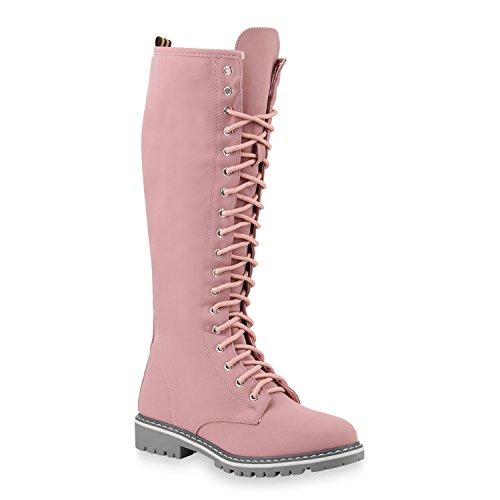 Damen Stiefel Worker Boots Outdoor Schuhe 145297 Rosa Autol 38 Flandell - Frauen Arbeit Für Rosa Stiefel