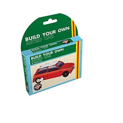 Fizz Creations 3D Puzzle Toy Build your Own Retro Car, then wInd it up and watch it go!