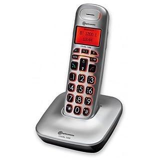 amplicomms BigTel 1200, Schnurloses Großtastentelefon, Hörgerätkompatibel