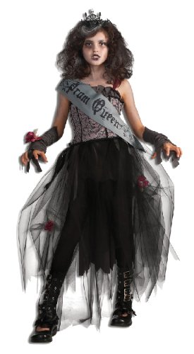 Halloween Kinder Kostüm Gothic Prom Queen Königin Kleid Größe S