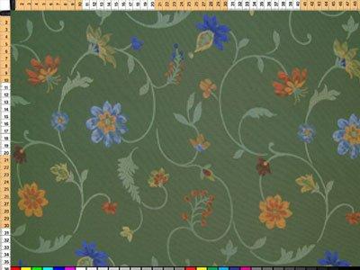Tessuto da tappezzeria, rivestimento in tessuto, tessuto da tappezzeria, tessuto, tessuto tenda, - Silkflower, scintillante verde oliva - tessuto di seta con la magnifica decorazione