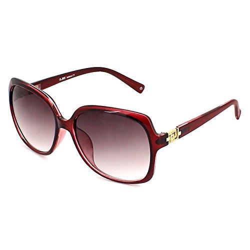 QUBE Women Square Sunglasses (Red)