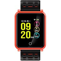 TF2 Fitness Tracker Tensiómetro Pulsómetro Actividad tracker Bluetooth Wireless Smart Watch IP 68 para Mode,