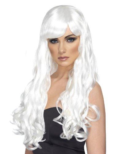 Kostüm Perücke Erwachsene Weiß (Female Punk Rock Kostüm)