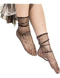 2f50a2fe12726e Cikuso Calze a rete a punto lucido da donna Heap Calze creative trasparenti  fatte a mano