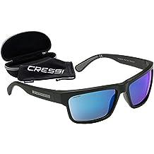 Cressi Ipanema Gafas de Sol, Unisex Adulto, Gris/Lentes espejados Azul, Talla