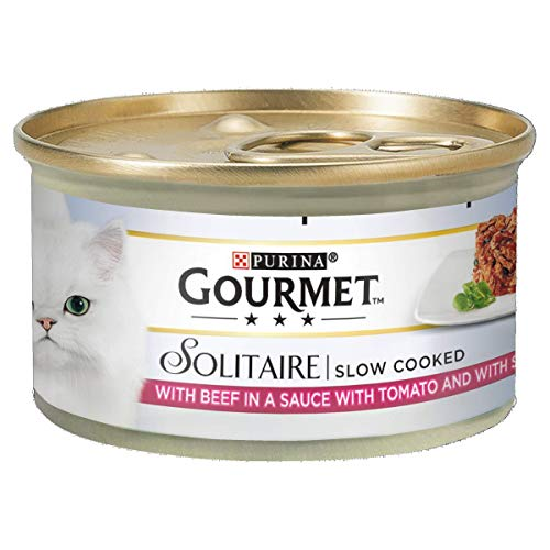 Gourmet Solitaire Beef with Tomato Sauce and Spinach, 85g - Pack of 12