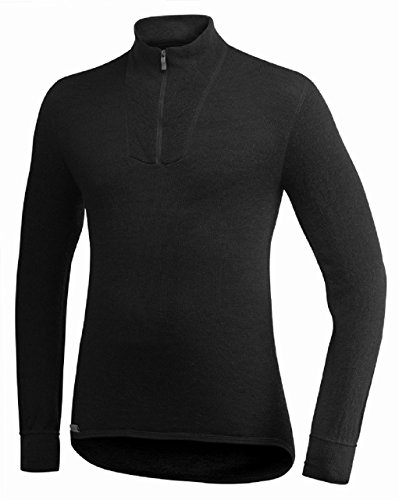 Woolpower 200 Turtleneck Long Sleeve Zipp Shirt Men - Unterwäsche schwarz