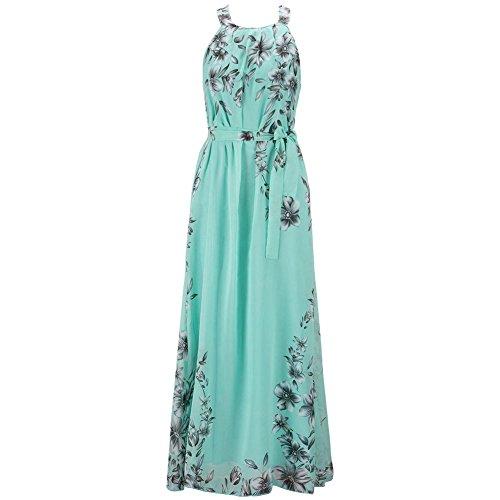 ETOSELL Femmes Summer Beach Boho Long Robes Vert