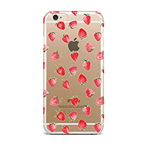 Qrioh Printed Designer Back Case Cover for iPhone 6s Plus - Strawberries All Over