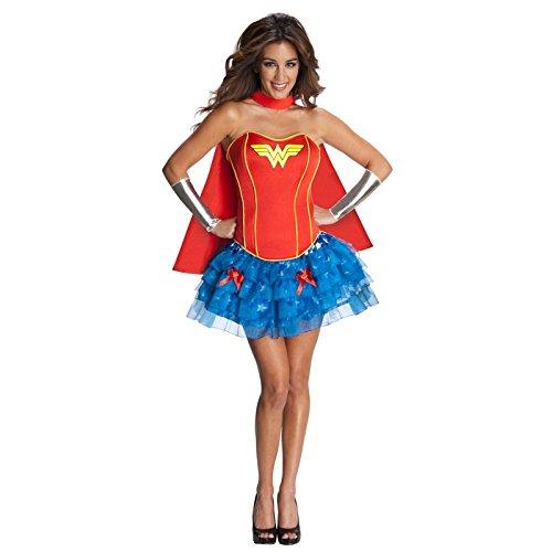 Damen 5 Stück Reizvolle/Sexy Wonder Woman Kostüm Einegröße 36-40
