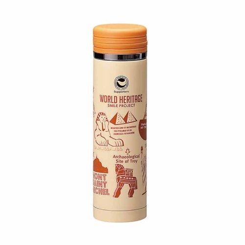 Projet SMILE du patrimoine mondial de la paix de phrase fixe tasse inoxydable mince d'orange 300ml WH-042 (Japon import / Le paquet et le manuel sont ?crites en japonais)