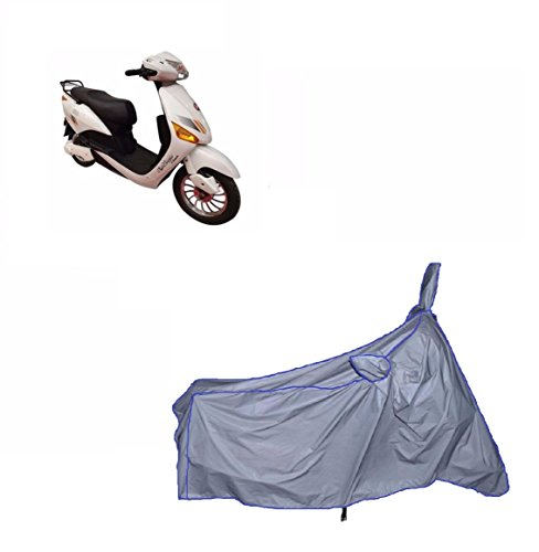 MotRoX Ultrathin Japanese Silver Two Wheeler Cover for Hero Electric Optima (100% WaterProof Fabric)  available at amazon for Rs.289
